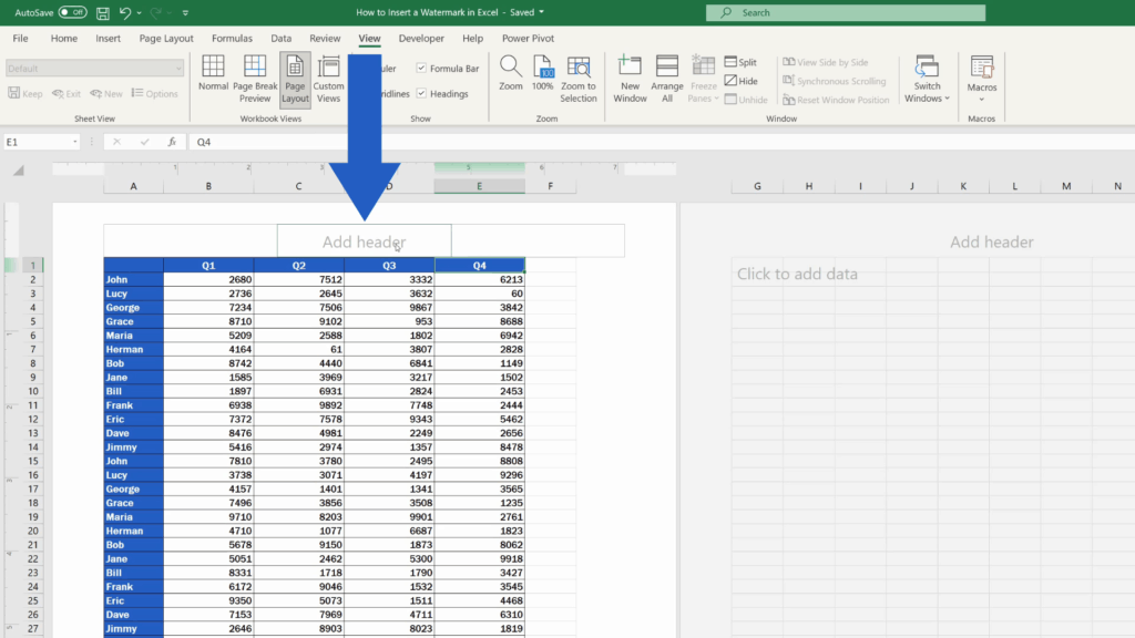 How to Insert aWatermark in Excel - Add Header