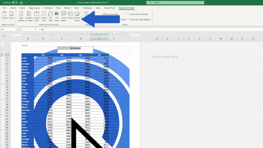 How to Insert aWatermark in Excel - Format the Picture