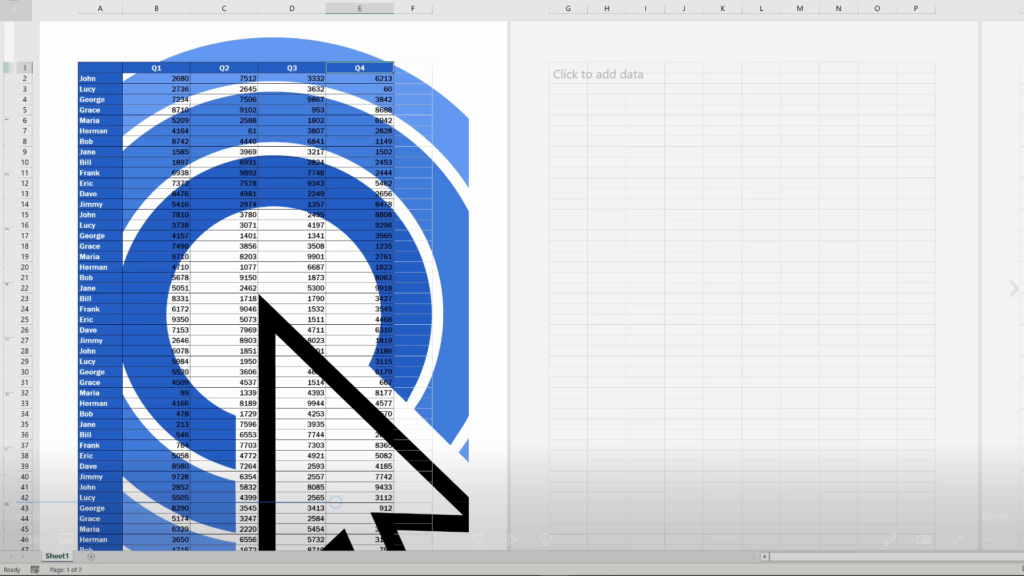 How to Insert aWatermark in Excel - Inserted picture