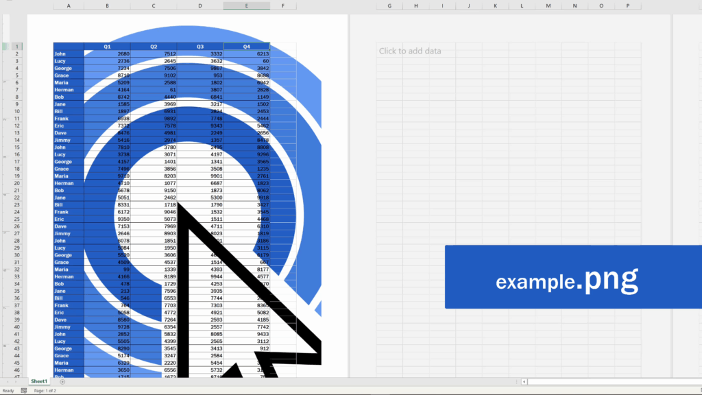 How to Insert aWatermark in Excel - the best format for apicture watermark is PNG