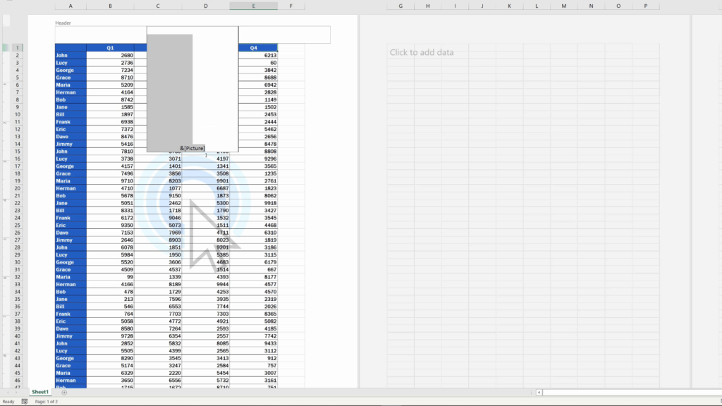 How to Insert aWatermark in Excel -  to remove picture select all that's there and use the key 'Delete'