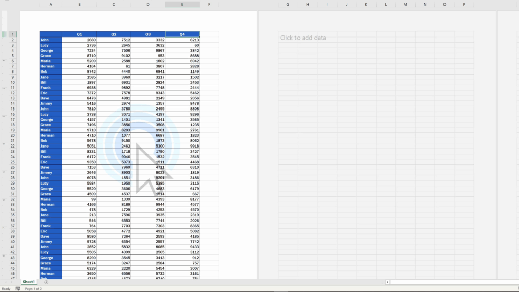 How to Insert aWatermark in Excel -  watermark placed in the middle
