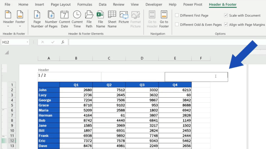 How to Add aHeader in Excel -Excel - add alogo into the header section