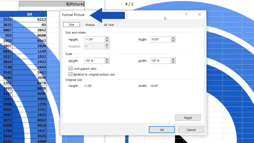 How to Add aHeader in Excel - apop - up window