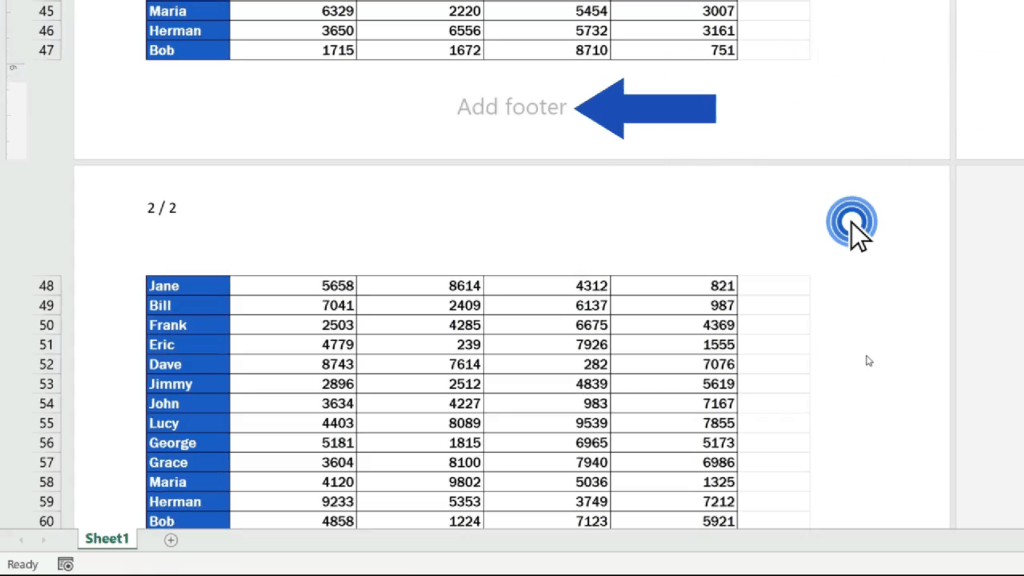 How to Add aHeader in Excel - elements work well with the footer too