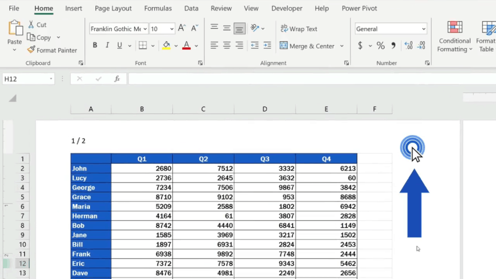 How to Add aHeader in Excel - the picture will appear resized as needed