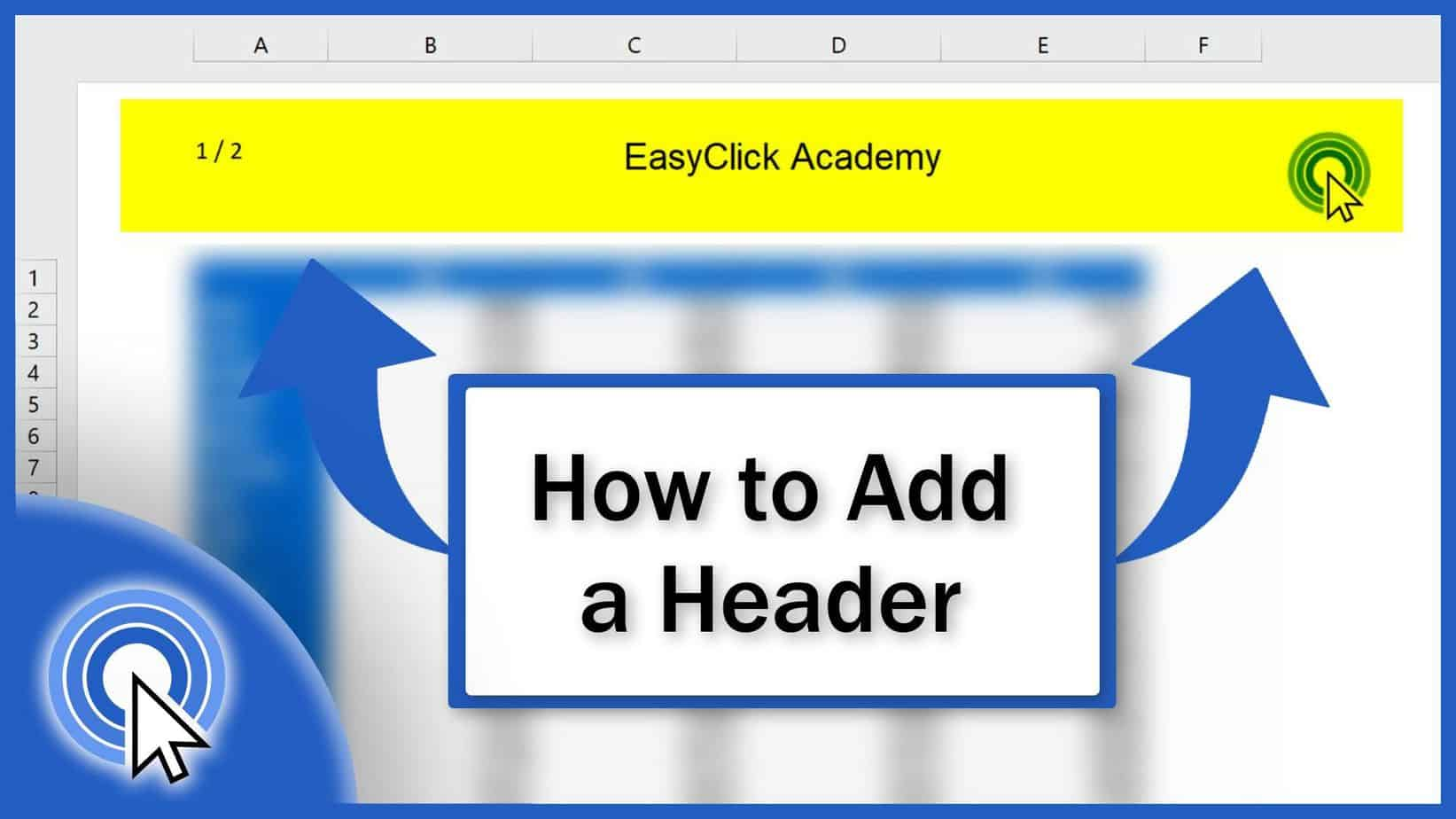 How to Add a Header in Excel