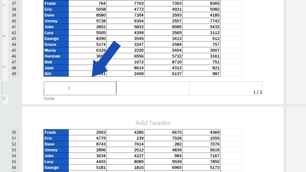 How to Add aFooter in Excel - add alogo into the footer section on the left