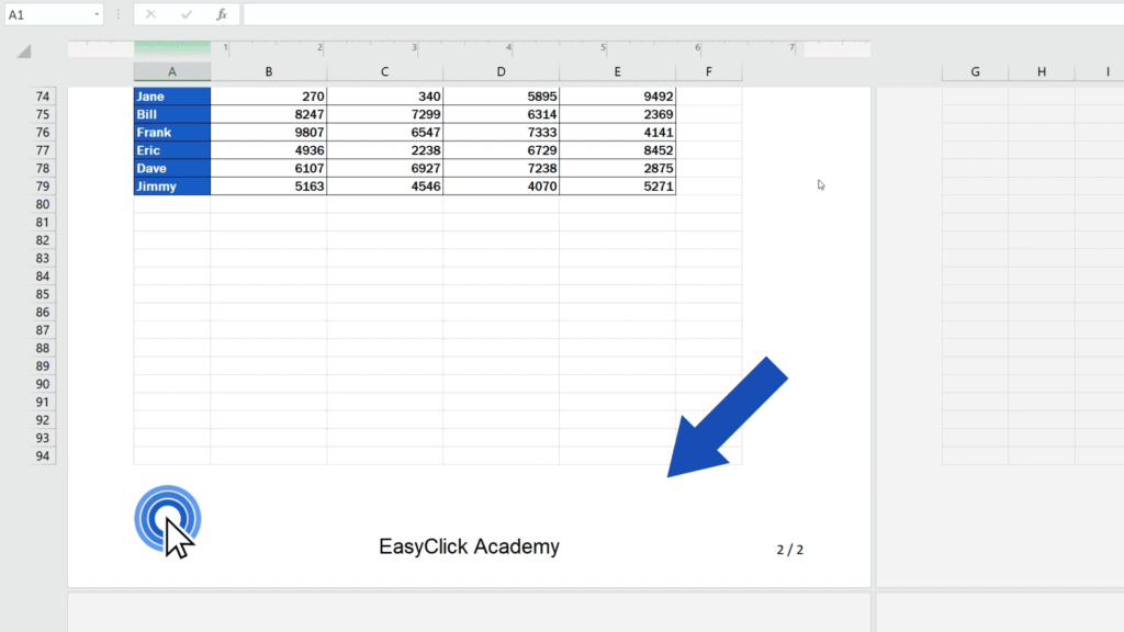 How to Add aFooter in Excel - not affect the footers on the rest of the pages