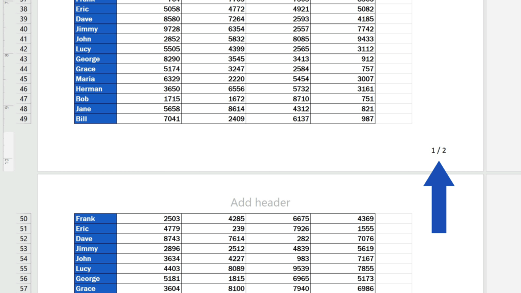 How to Add aFooter in Excel - shows number of pages separated with aslash