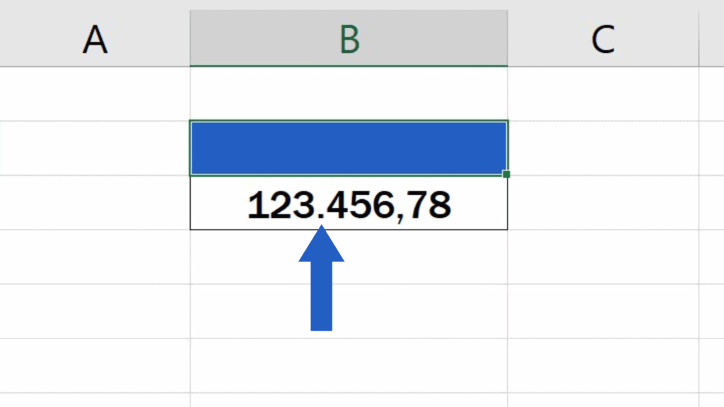 How to Change the Decimal Separator in Excel - The separators have been changed