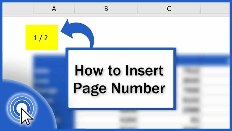 How to Insert Page Numbers in Excel