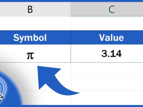 How to Write Pi in Excel
